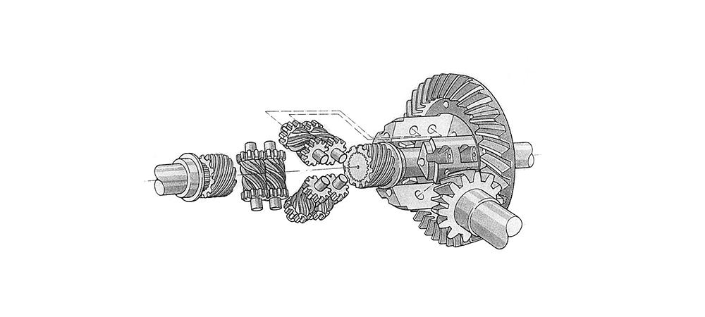 slider1v21 Exploded view, Törsen differential